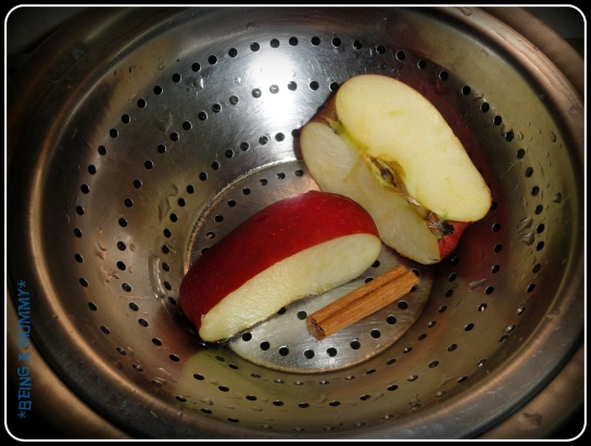 Step 1 - steaming the apple