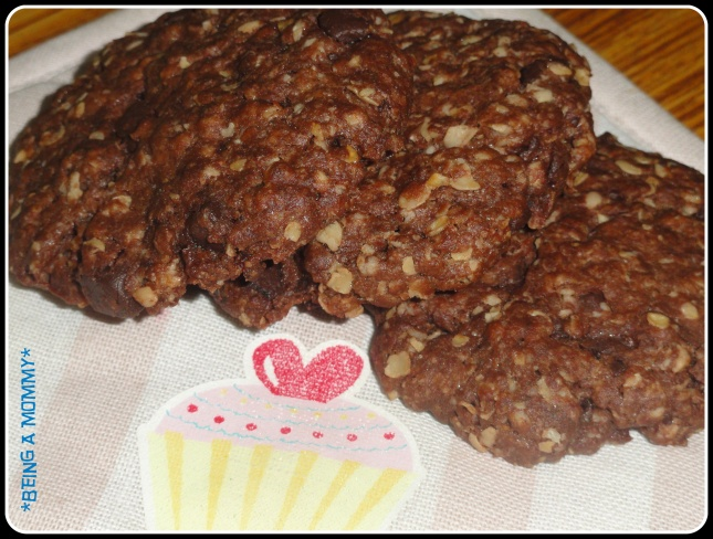 Double Chocolate Chunk Oat Cookies