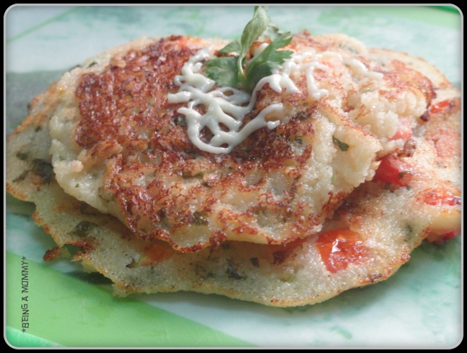 Indian Rawa Pancakes