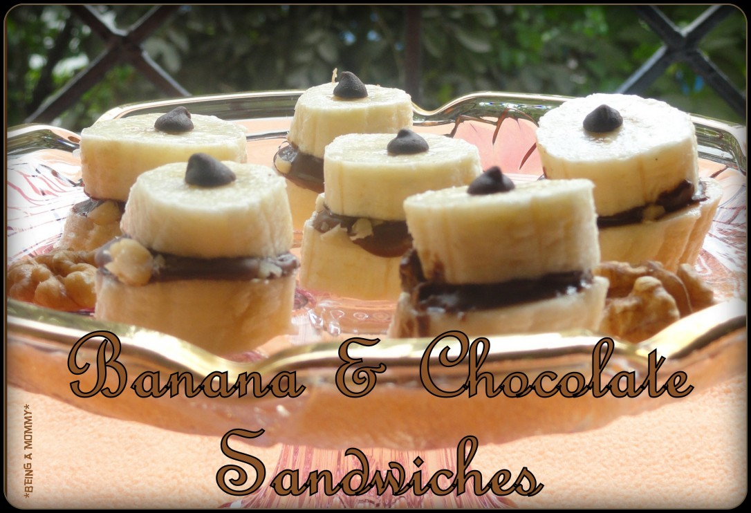 Banana n Chocolate Sandwiches