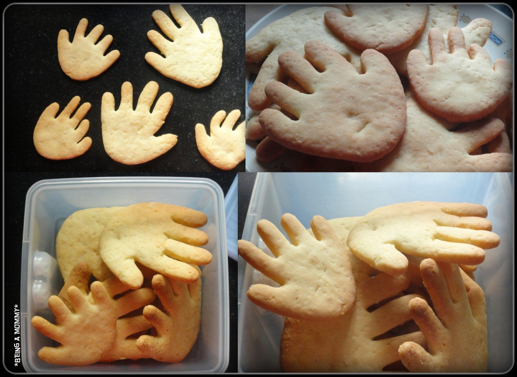 Baked High Five Cookies