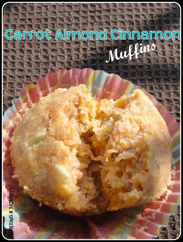 Carrot Almond Cinnamon Muffins