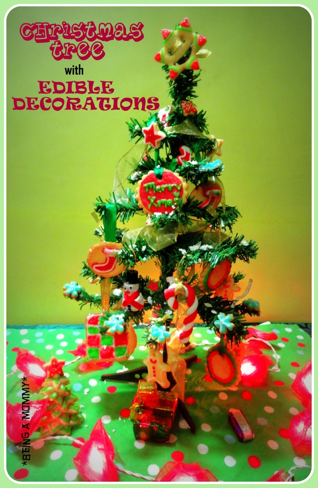 Christmas Tree with Edible Decoration