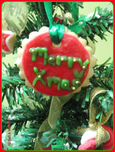 Cookie Base Christmas Plaque