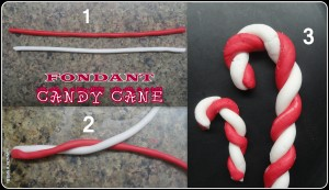 Making Fondant Candy Cane