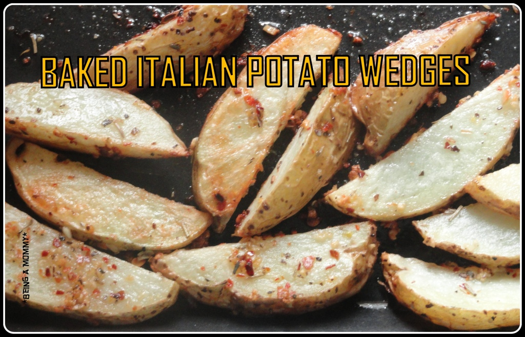 Baked Italian Potato Wedges 1