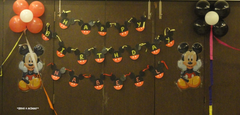 Handmade Mickey Birthday Banner