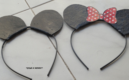 Handmade Mickey & Minnie Headbands