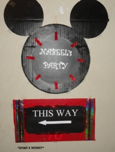 Mickey Party Sign