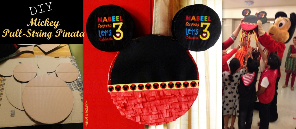 DIY Mickey Mouse Pull-String Pinata