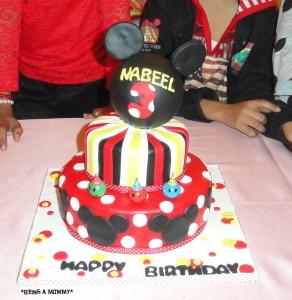 mickey theme cake