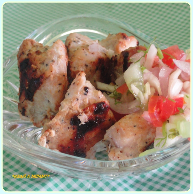 cream chicken barbeque