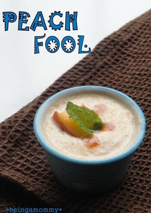 Peach Fool Dessert