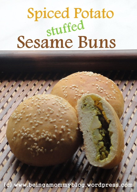 Spiced Potato stuffed Sesame Buns