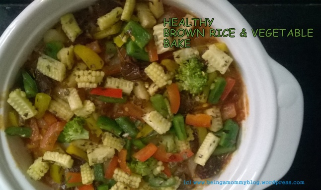 Brown rice n vegetable bake