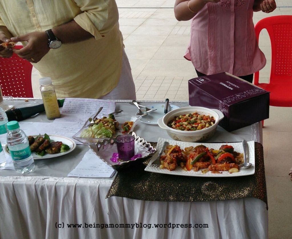 Display of dishes at the competition