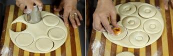 Cutting the Donuts  Image Source : http://nishamadhulika.com/en/816-homemade-donuts-recipe.html
