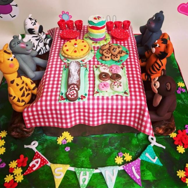 Animal Tea Party Cake