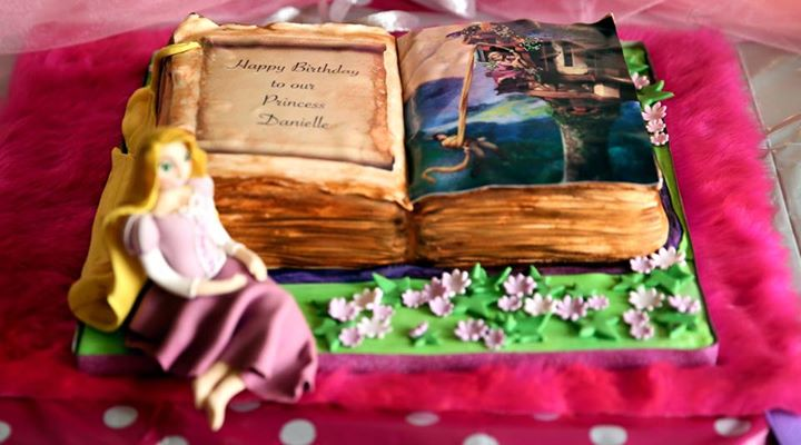 Rapunzel Book Cake