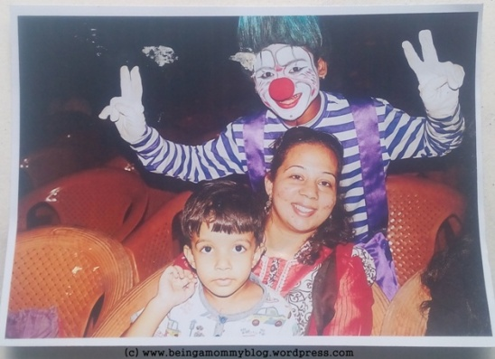 One can get such postcards clicked at the circus.