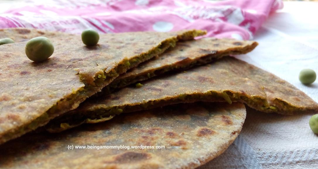 green pea paratha