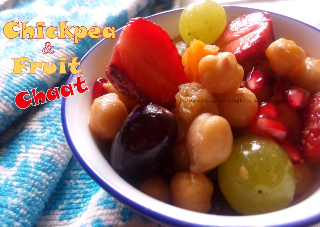 chickpea & fruit chaat