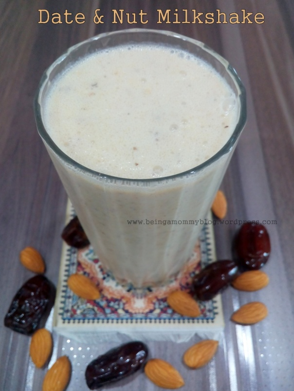 date and nut milkshake