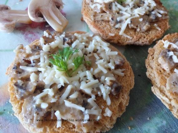 mushroom on toast