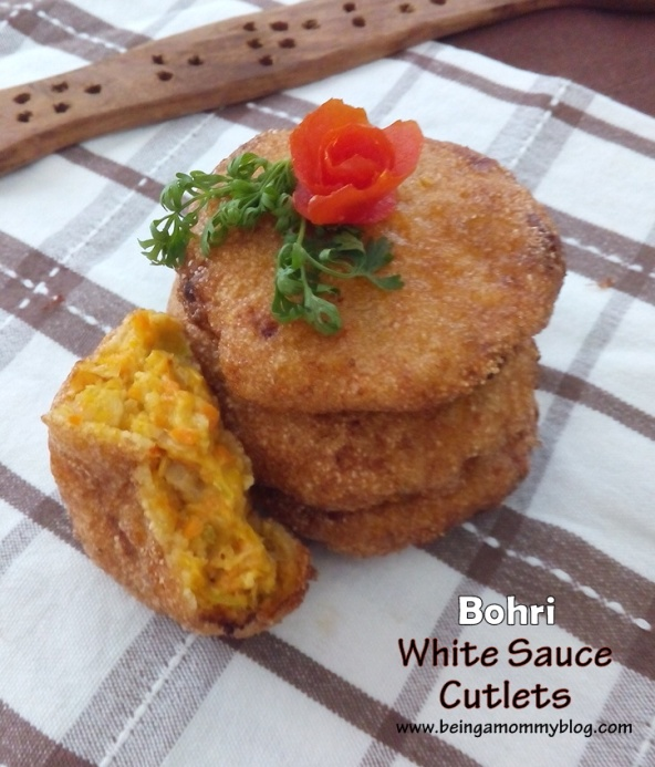 bohri white sauce cutlets